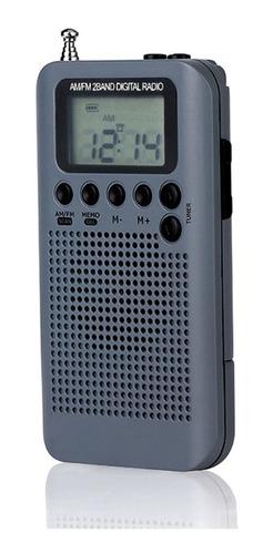 Hrd-104 Portátil Am/fm Rádio Estéreo Bolso 2 Bandas Digital