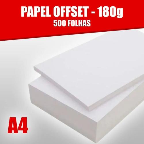 Papel Offset 180g Caixa Com 500 Folhas Tamanho A4 Branco