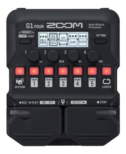 Pedaleira Zoom C/modulo De Efeitos P/guitarra G1 Four
