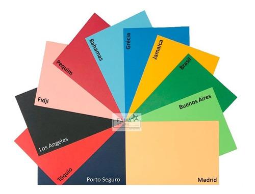Papel Color Plus A4 180g 100 Folhas + 60 Lamicotes