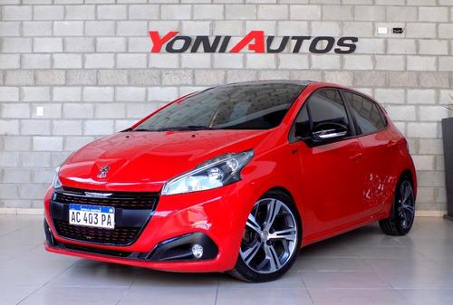 Peugeot 208 Gt 2018 1.6t- Rojo -u-n-i-c-o- Km Real - Permuto