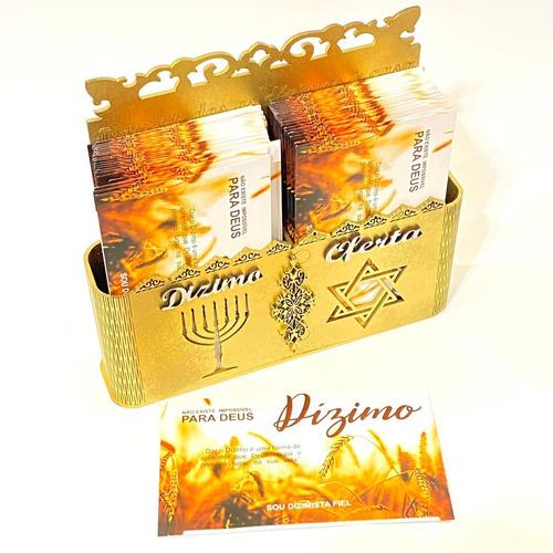 Porta Envelope Duplo Dizimo E Oferta + 100 Envelopes Premium