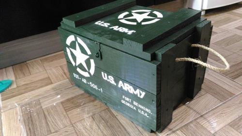 Artigo Militar Baú  Exército Decoração