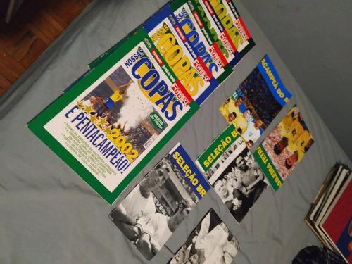 Coleção Nossas Copas - 5 Revistas + 5 Posteres
