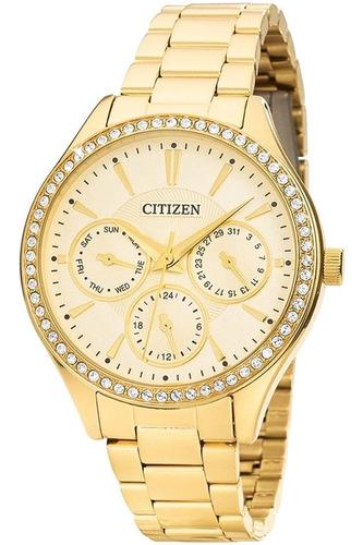 Relógio Feminino Citizen Dourado Tz28404g