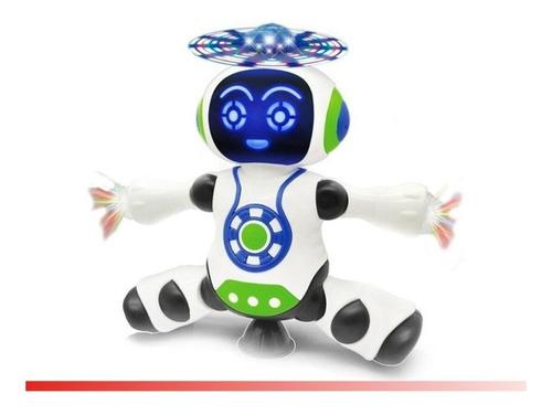 Brinquedo Robô Dança Gira 360 Graus Robot Som & Luz