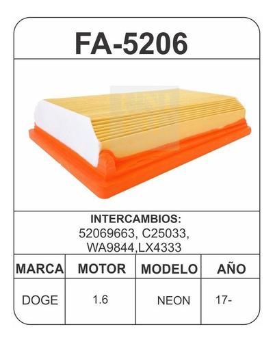 Filtro Aire Dodge Neon 1.6l 2017 En Adelante 52069663