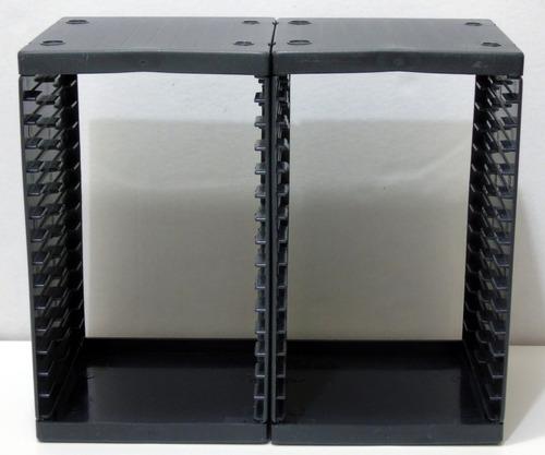 L 375 - Porta Cd's/dvd's De Plástico Reforçado P/15 Peças