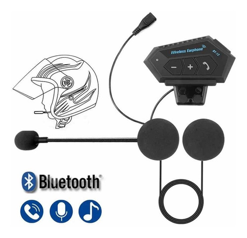Auriculares Bluetooth Para Casco Intercomunicador