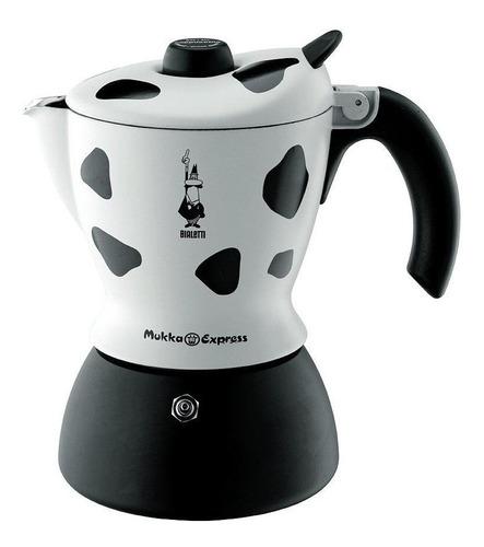 Cafetera Bialetti Mukka Express 2 Cups Manual Negra Y Blanco Italiana