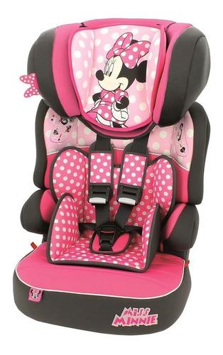 Cadeira De Carro Beline Minnie Mouse Dots Rosa Cadeirinha