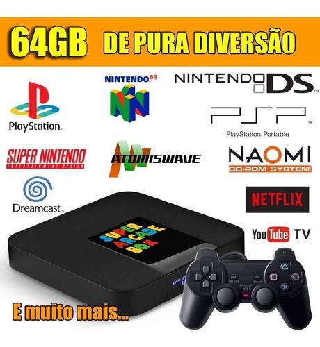 Video Game Retro 6385 Jogos Selecionados 64gb 2 Controles