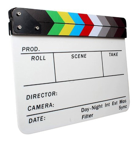 Claqueta Acrílica Magnética Para Producciones De Vídeo, Cine