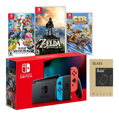 Nintendo Switch 2019 Bateria Extendida + 3  Juegos + Mica