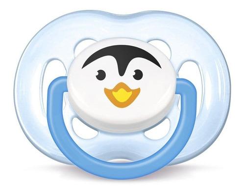 Chupeta Avent Freeflow Pinguim Unitário - Menino