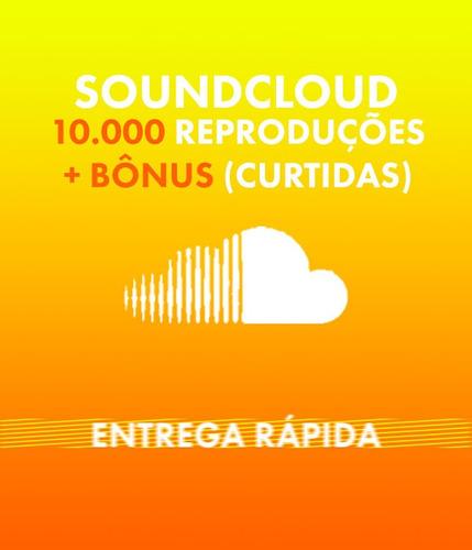 Soundcloud 10.000 Plays + Bônus (likes)