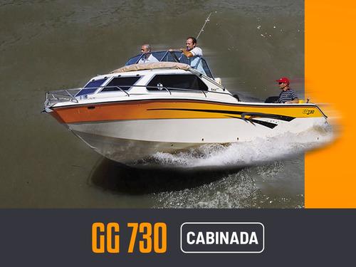 Lancha Gg 730 Cabinada 2020 Con Motor Mercury 115hp 4t