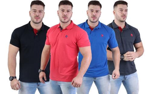Revenda 05 Camisa Masculina Polo Plus Size Especial G1 Ao G3