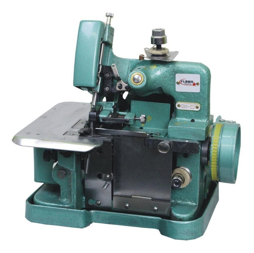 Máquina De Costura Semi Industrial Overlock Flawil Gn1-6d Verde 110v