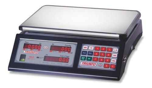 Balança Comercial Digital Triunfo Max Dst-30-c-d 30kg 110v/240v Preto 335mm X 233mm