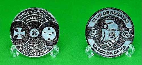 Moeda Medalha Oficial Futebol Jogo Vasco X Cruzeiro 2019