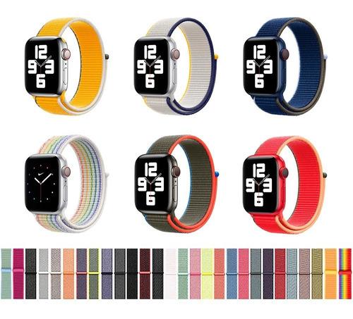 Pulseira Para Apple Watch Nylon Loop Esportiva 38 40 42 44mm