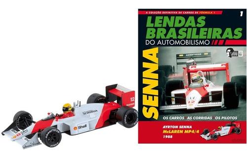 Mclaren Mp4/4 1988 Ayrton Senna Lendas Brasileiras Ed.01