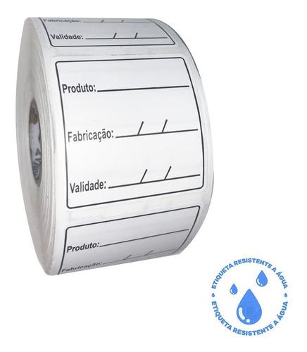 1000 Etiqueta Validade Congelamento Bopp - 3 Linhas
