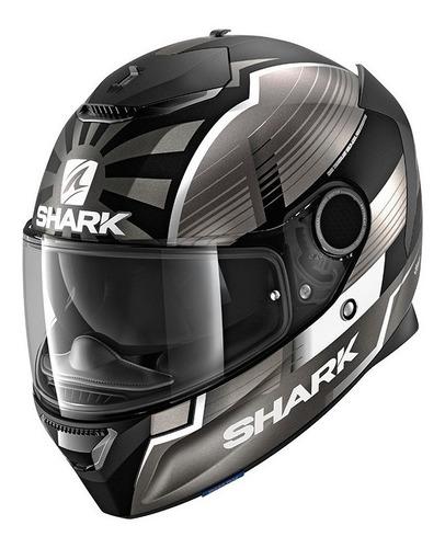 Capacete Shark Spartan Preto Fosco Com Viseira Solar