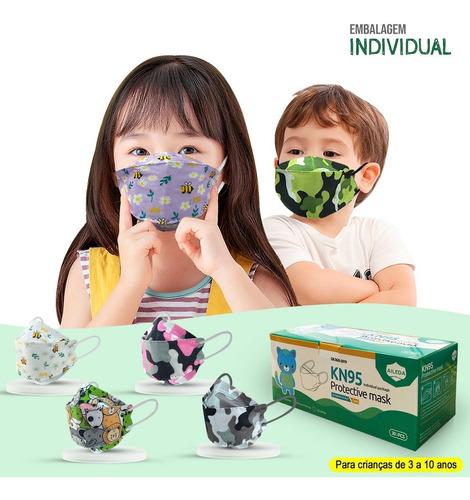 Kit 10 Máscaras Kf94 Infantil Proteção Meltblown Kn95 Ffp2