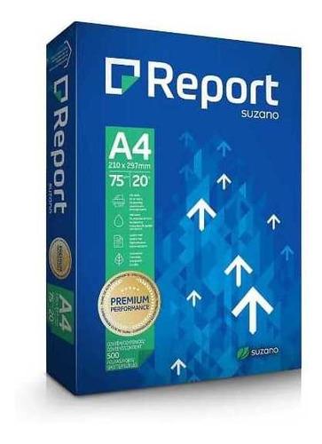 Papel Sulfite A4 75g. Resma 500 Folhas. Report Suzano