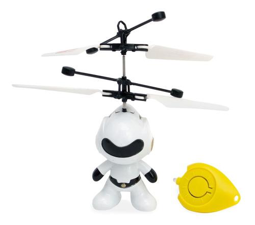 Robô Brinquedo Controle Infravermelho Mini Drone Voa Verdade