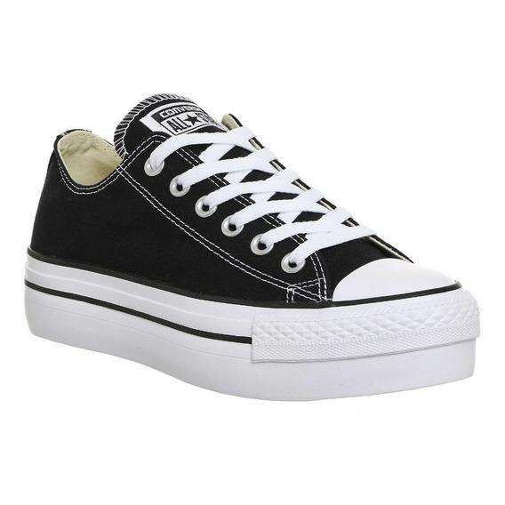 Zapatillas Converse All Star Plataforma Negro Exclusiva Dama