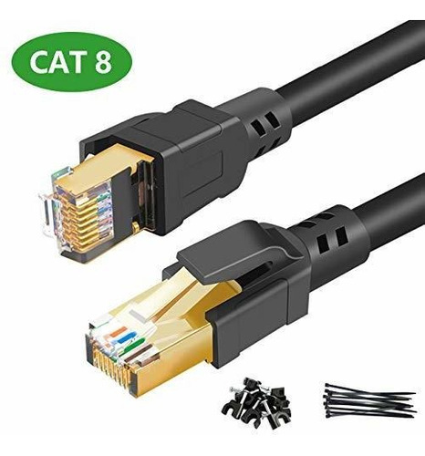 Cable Ethernet Cat8 De Alta Velocidad De 40 Gbps 2000 Mhz Co