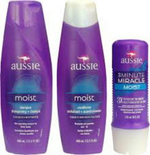 Aussie Kit Moist Shampoo Condicionador + Mascara 3 Minute Original