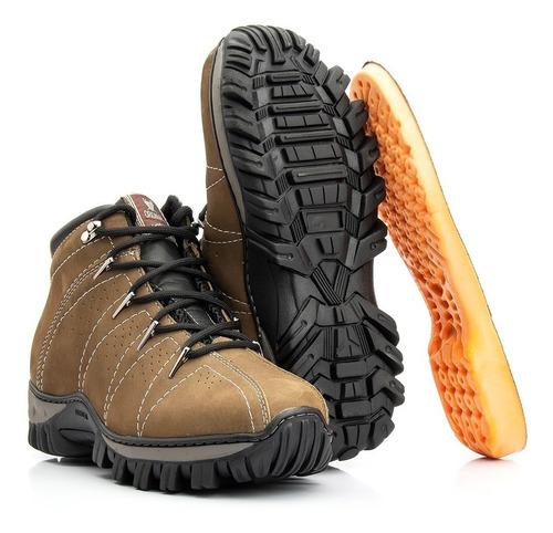 Coturno Masculino Em Couro Com Palmilha De Gel - Rone Boots