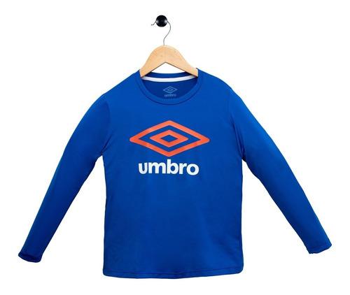 Camiseta Camiseta Júnior Basic Uv Umbro Azul Fps50 - 825987