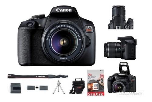 Canon  T7+ C/18-55mm+sd 64g+bateria Reserva+bolsa+tripé+nf