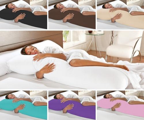 Fronha Travesseiro De Corpo Varias Cores Xuxao 1,35x0,45