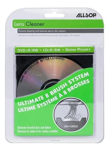 Limpiador Cd Dvd - Laser Lente Allsop 8 Escobillas Lens Clea