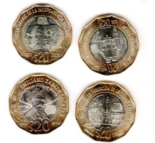 Cuatro  Monedas  $20  Conmemorativas  2001