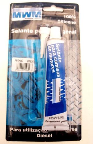 Silicone Selante Mwm Junta Alta Temperatura Motor Cambio