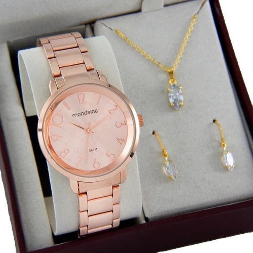 Relógio Mondaine Feminino Rose Gold Barato