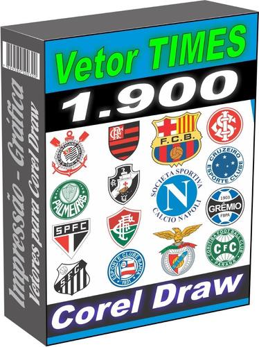 Vetor Times Futebol 1.900 Arquivos Para Corel Draw Cdr - Eps
