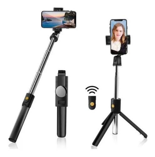 Tripé Bastão Pau De Selfie 3 Em 1 Controle Bluetooth Com Led