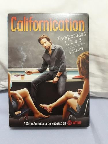 Box Dvd Serie Californication - Temp. 1, 2 E 3 - Original