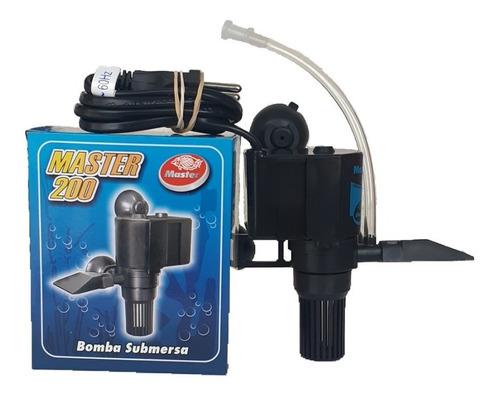 Bomba Submersa Para Aquário 200 L/h  Master Fonte Cascata Oxigenio 110v 220v