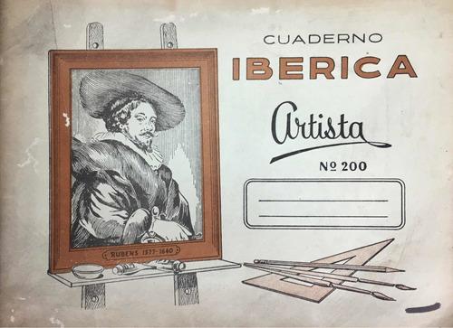Cuaderno Ibérica. Artista. No. 200.