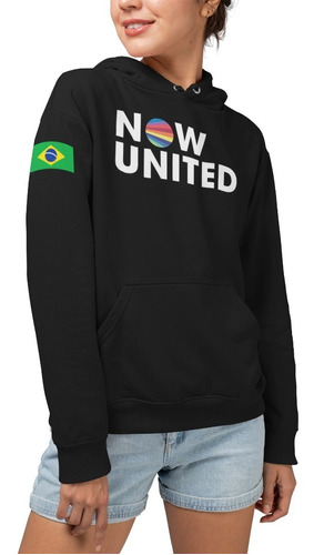 Moletom Infantil Now United 06 Any Gabrielly Brasil Casaco