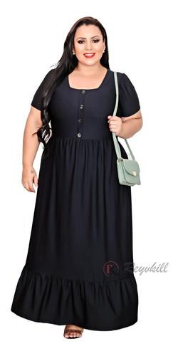 Vestido Feminino Moda Cristã Evangélica Plus Size Cecília